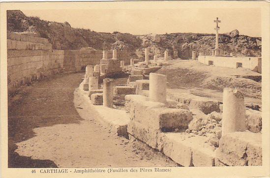 Tunisia Carthage Amphitheatre Fouilles des Peres Blanes
