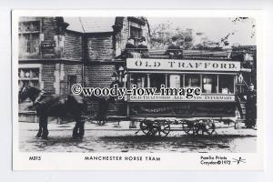 pp2148 - Lancs - Manchester Horse Tram / Old Trafford - Pamlin postcard