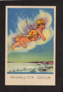 Peaceful Merry Christmas Postcard Finland Finnish Suomi Greetings  Seal 1947