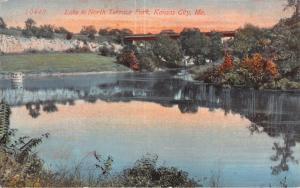 KANSAS CITY KS LAKE IN NORTH TERRACE PARK~ACMEGRAPH PUBL POSTCARD 1910s