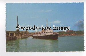 f0408 - Ferry departing Folkestone - postcard
