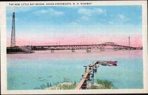New Hampshire DOVER-PORTSMOUTH Highway The New Little Bay Bridge LINEN