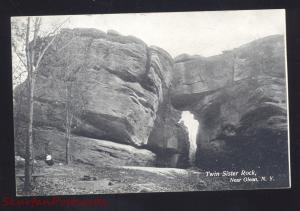 OLEAN NEW YORK TWIN SISTER ROCK UNUSUAL ROCKS ANTIQUE VINTAGE POSTCARD NY