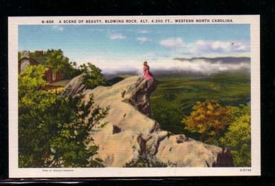 North Carolina colour PC Blowing Rock Western North Carolina, unused