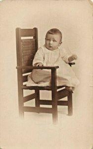 BABIES~LAWRENCE & MELVILLE DECKINGER~LOT OF 2 REAL PHOTO 1910s POSTCARDS