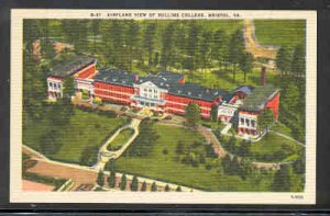 Virginia Postcard Airplane view Sullins College Bristol