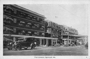 Ogunquit ME The Lookout Hotel Old Cars Postcard
