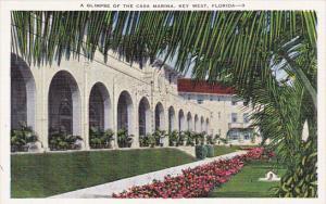 Glimpse Of The Casa Marina Key West Florida