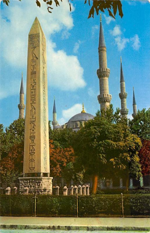 Turkey Istanbul Egyptian Obelisque and Blue Mosque