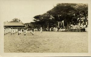 papua new guinea, RABAUL, Native Girls Drill on Empire Day (1934) RPPC