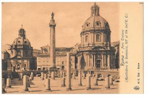Italy Roma Foro Traiano Trajan Column Basilica Ulpia Postcar