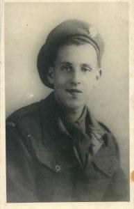 Postcard young man soldier uniform