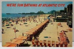 We're Sunbathing at Atlantic City NJ Postcard D1