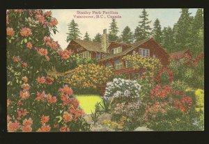 Postmarked 1946 Vancouver BC Stanley Park Pavilion Vancouver Color Postcard