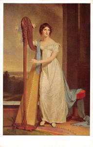 BR71046 lady with a harp sully eliza ridgely  washington  painting postcard  usa