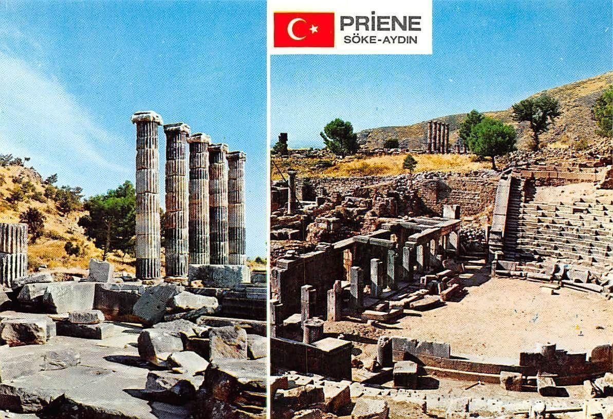 Turkey Priene (Soke) Tapinak ve Tiyatro Ruins / HipPostcard