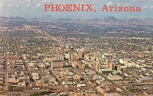 Air View Downtown Phoenix Arizona AZ Chrome