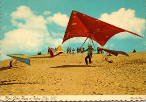 North Carolina Hang Glider Flying At Jockey Ridge