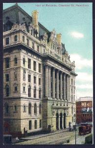 Hall of Records Chamber Street New York City unused c1910's