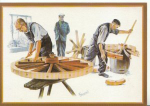 Occupation Postcard - Country Crafts - Wheelwrights - Ref 14623A