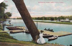 Iowa Sioux City Scene In Riverside Park 1919