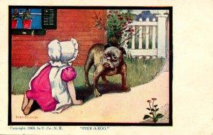 Sunbonnet Baby - Peek-A-Boo   Artist: Dorothy Dixon (Series 504)