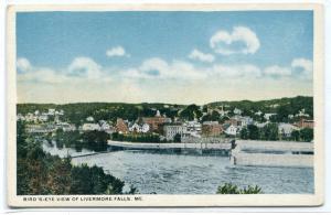 Panorama Livermore Falls Maine 1920c postcard