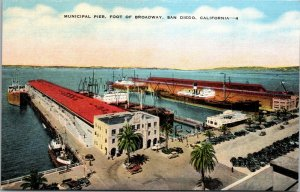 San Diego, CA - Municipal Piers and Surroundings at the Foot of Broadway - PC