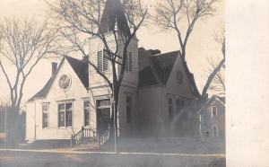 Blair Nebraska~1st Baptist Church Before Remodel (Round Windows Gone) RPPC 1908