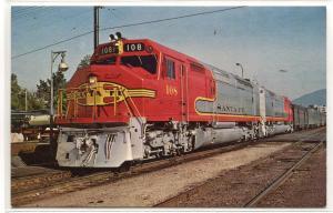 Santa Fe Super Chief El Capitan  Railroad Train 108 FP45 Pasadena CA postcard