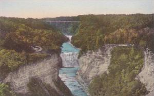 New York P O Castle Middle Falls From Inspiration Point Letchworth State Park...