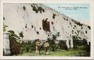 Havana Cuba The Dead Line in Cabana Fortress Unused Kropp Postcard E89