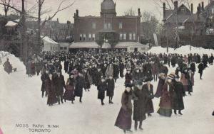 TORONTO , Ontario , Canada , 1900-10s ; Moss Park Ice Skating Rink
