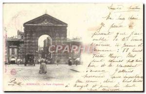 Old Postcard Bordeaux La Porte D & # 39Aquitaine