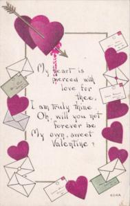 Valentine's Day Hearts and Letters
