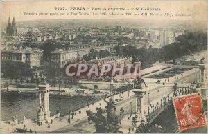Old Postcard PARIS PONT-General Alexander View
