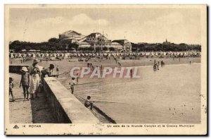 Royan Old Postcard A corner of the large conch and the Municipal Casino