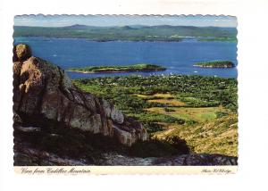 View from Cadillac Mountains, Bar Harbor, Porcupine Islands, Frenchman's Bay ...