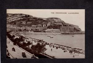 UK The Promenade Llandudno England British Postcard Real Photo RPPC Phototone PC