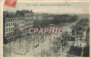 Old Postcard Lyon Cross Rousse Boulevard North Coast