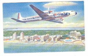 Eastern Air Lines Golden Falcon (DC - 7B), 40-60s ; Miami Beach , Florida