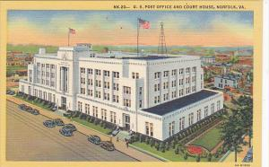 Post Office and Court House Norfolk Virginia Curteich