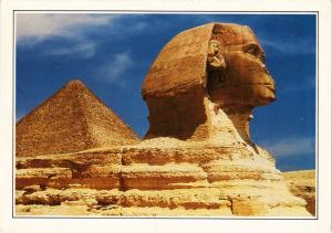 CPM EGYPTE Lion androcéphale colossal, le sphinx de Gizeh (343980)