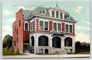 Peoria Illinois~Knights of Columbus House & Home~c1910 Postcard