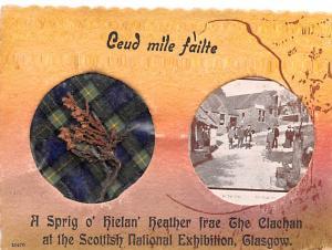 Scotland, UK Old Vintage Antique Post Card Ceud Mile failte Unused