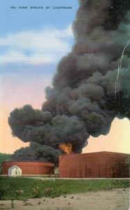 Oil Tank Struck By Lightning