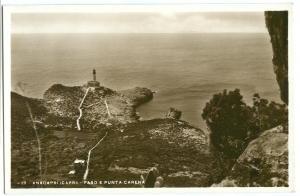 Italy, Anacapri (Capri), Faro E Punta Carena, unused RPPC