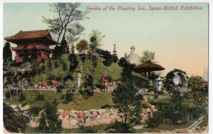 Garden Of The Floating Isle, Japan British Exhibition PPC By Valentines, Unused