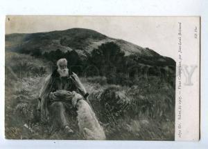 206957 Old Hunter & SETTER Dog by BREMOND Vintage SALON 1907