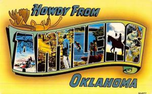 Antlers Oklahoma Large Letter Greeting Vintage Postcard K51241